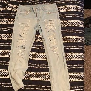 Distressed American Eagle Tomgirl Jeans